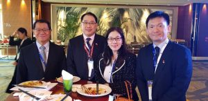With the President of the Chamber of Commerce, Lee Ee Yang and Lee Chen Woei